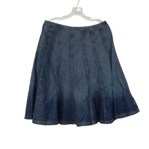 Michael Kors Womens Size 10 Denim Skirt Flare